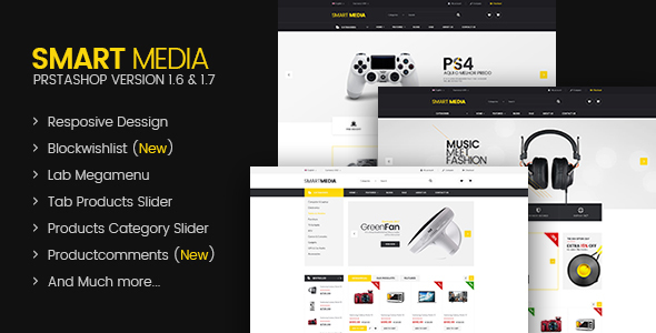 Smart media Responsive Prestashop 16,17 Theme by labertheme - Responsive Media