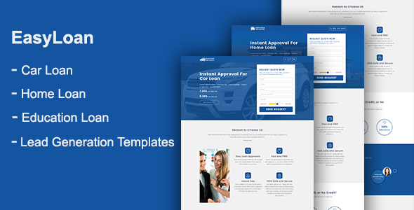 EasyLoan - Loan Company Website Templates by onushorit ThemeForest - loan templates
