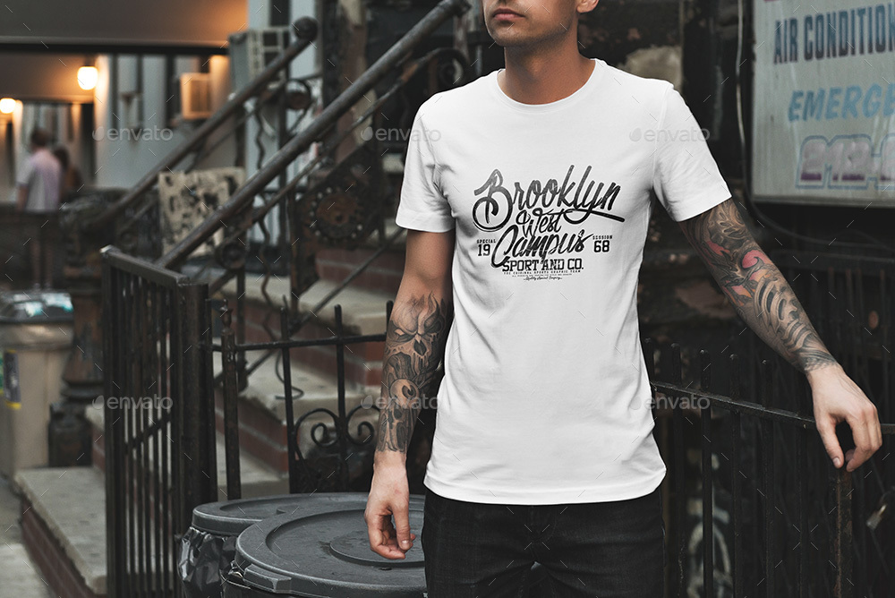 T-Shirt Mockup / Urban Edition by Genetic96 GraphicRiver