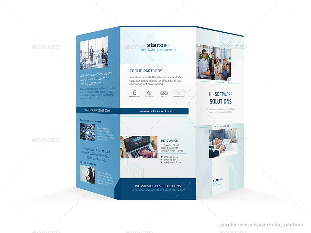 Software Business Trifold Brochure by Mike_pantone GraphicRiver
