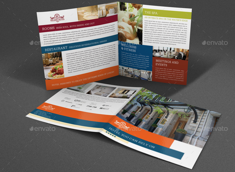 ... Hotel And Motel Bi Fold Brochure Template By OWPictures GraphicRiver   Hotel  Brochure Template ...