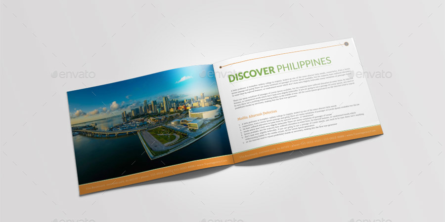 Travel Tourism Brochure Template by GraphicShaper GraphicRiver - tourism brochure template