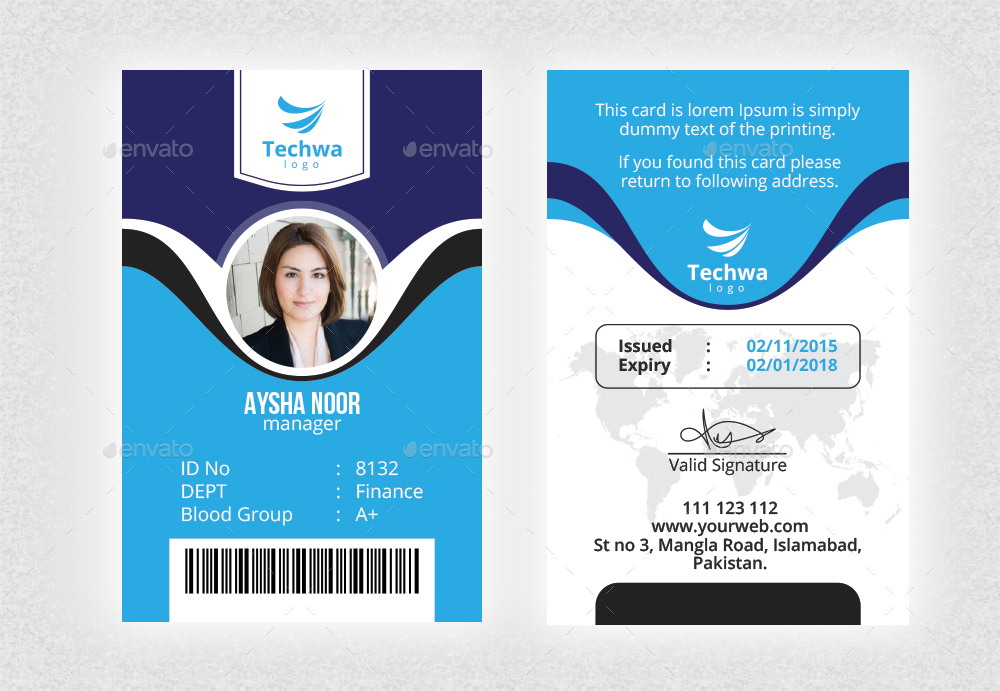 Office ID Card by Nasirktk GraphicRiver