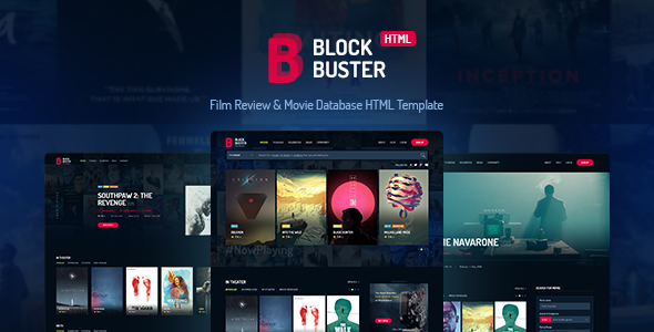 BlockBuster - Film Review  Movie Database HTML Template by haintheme