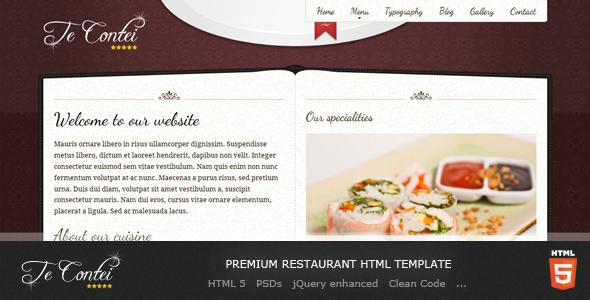 Te Contei Restaurant Template by Demente_Design ThemeForest - a la carte menu template
