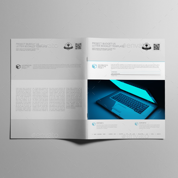 Project Budget US Letter Booklet Template by Keboto GraphicRiver - booklet template