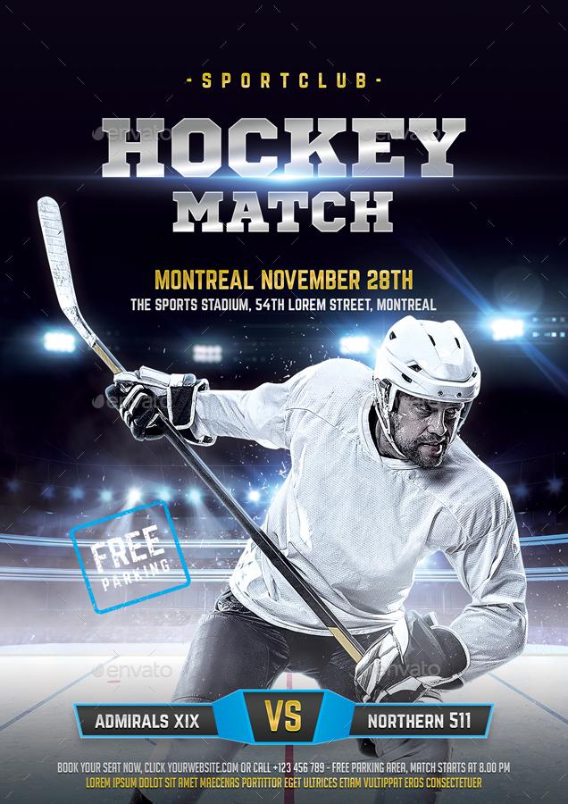Hockey Flyer by bornx GraphicRiver