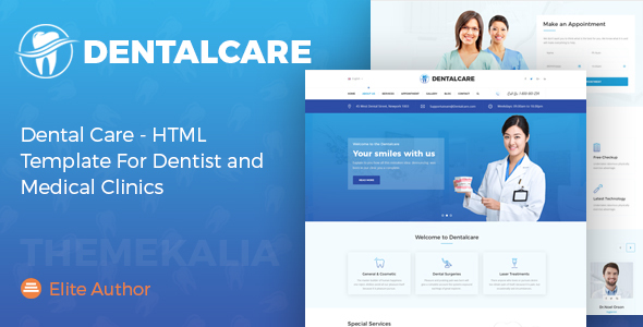 Dental Care - HTML Template For Dentist and Medical Clinics by