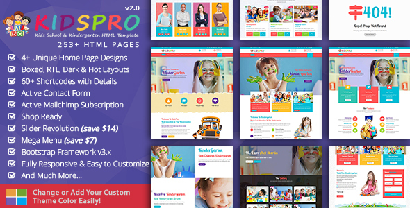 Nursery Templates from ThemeForest