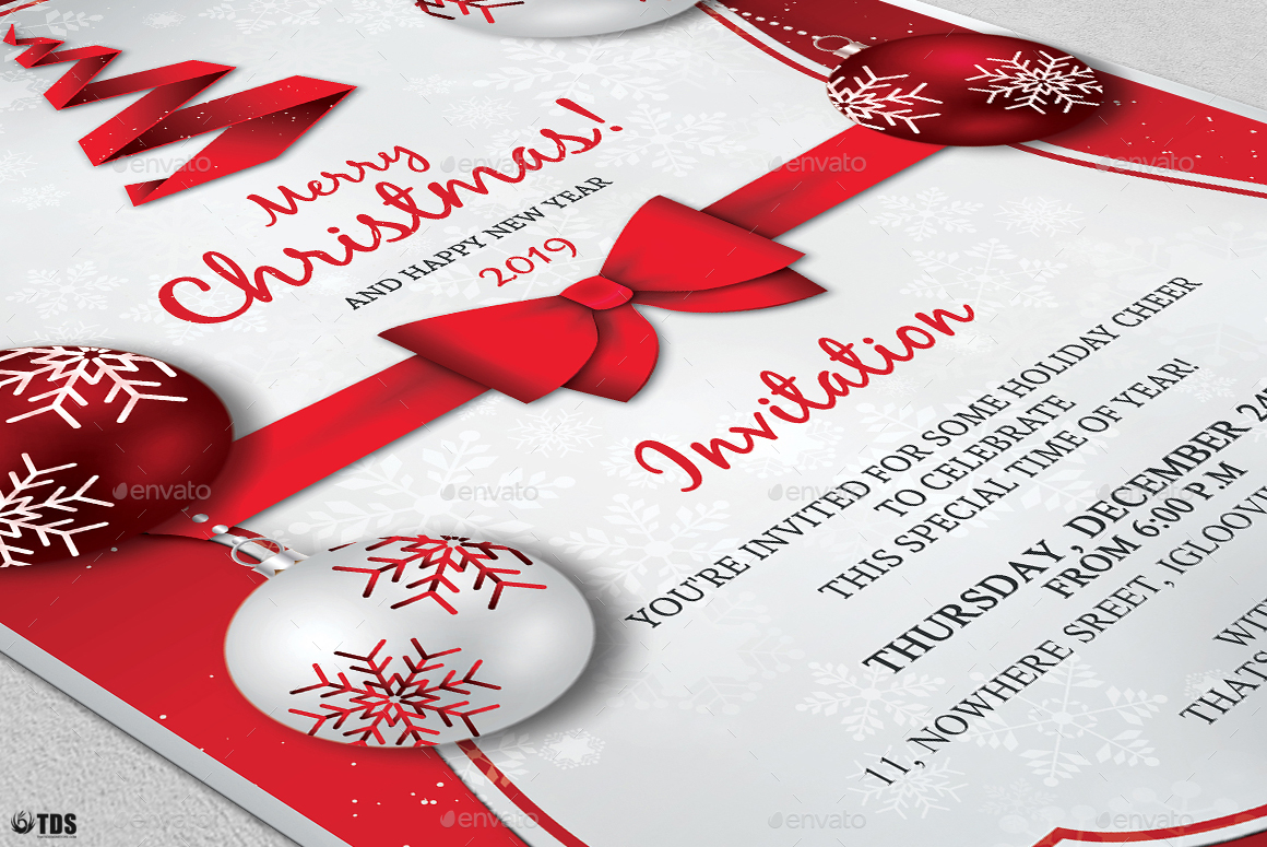 A5 Invitation Mockup Psd Christmas Invitation Template V4 By Lou606 | Graphicriver