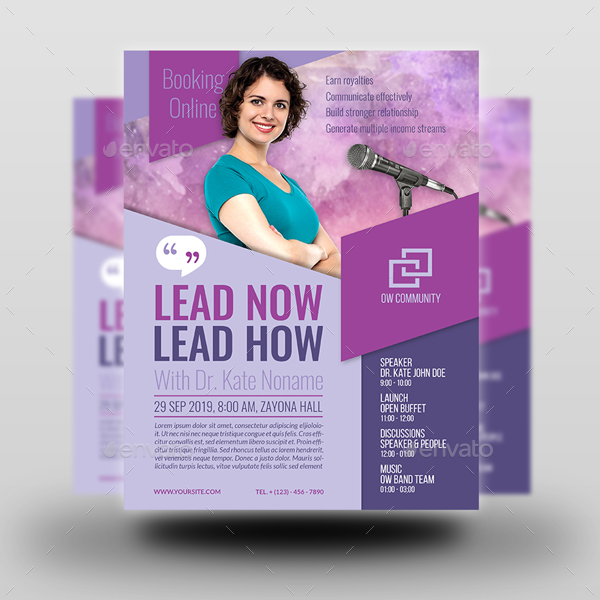 Seminar Flyer Template Vol2 by OWPictures GraphicRiver