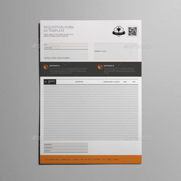 Requisition Form A4 Template by Keboto GraphicRiver