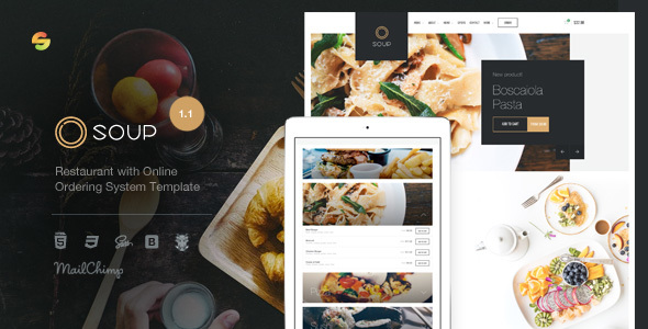 Soup - Restaurant with Online Ordering System Template by suelo