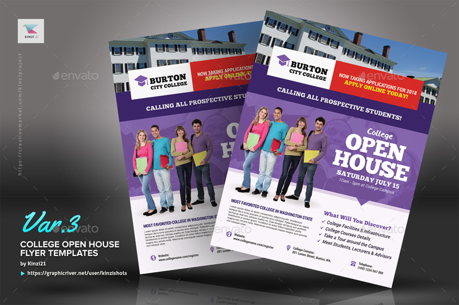 flyers for open house - Selol-ink