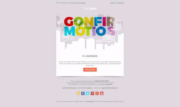 The City - Business email template by bnrcreativelab ThemeForest - business email template