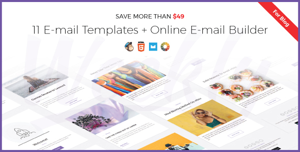 Weekly Responsive Email Newsletter Template with Online Email - weekly newsletter template