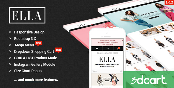 ELLA - Responsive 3dCart Template by halothemes ThemeForest