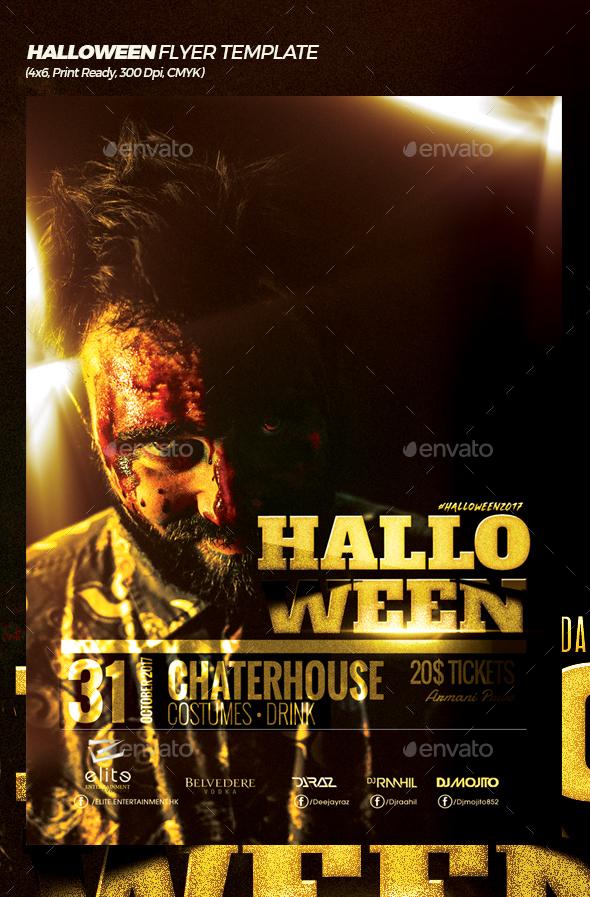 Thriller Halloween Flyer Template by Mexelina GraphicRiver - halloween flyer template