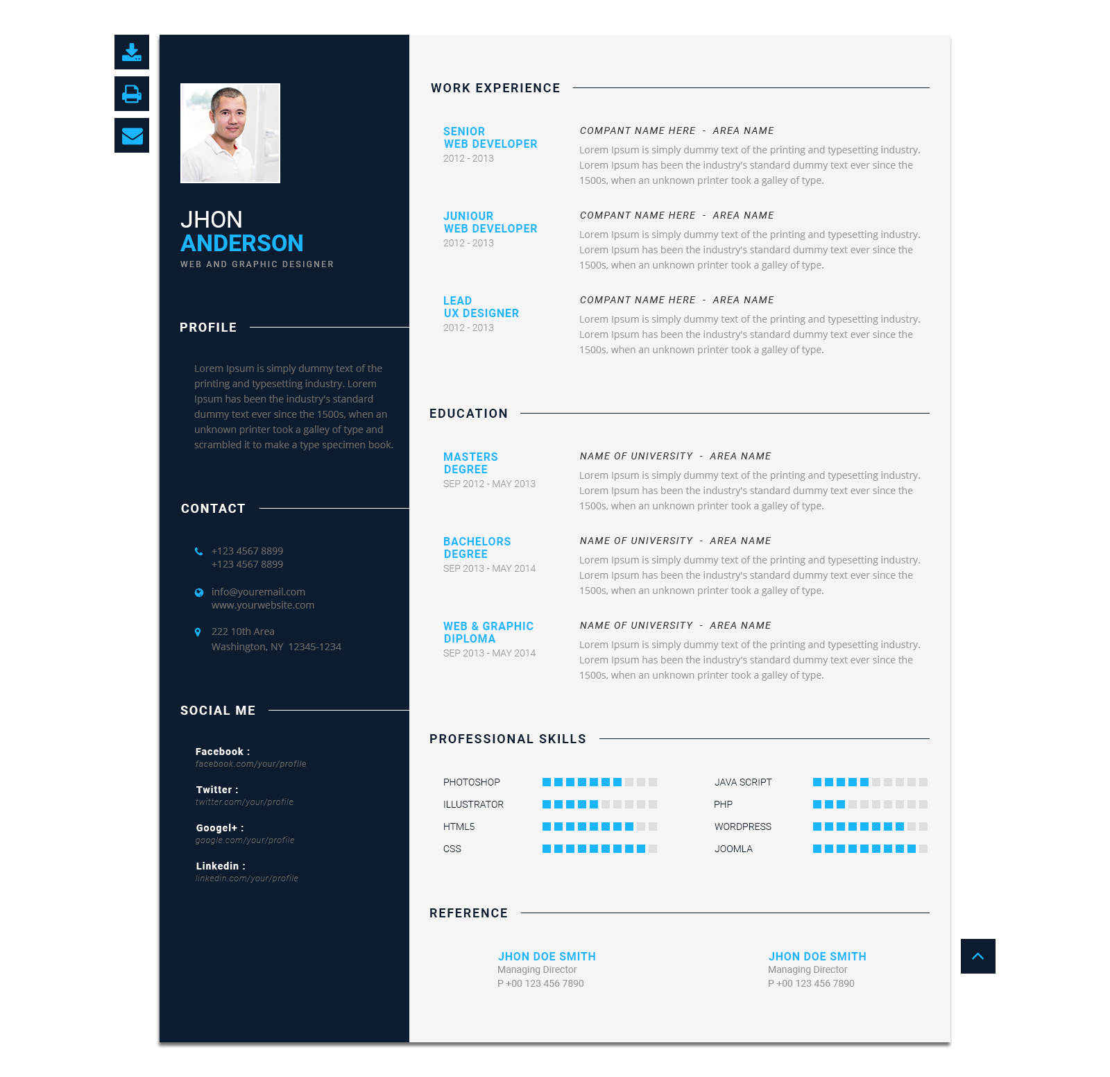 template cv for google