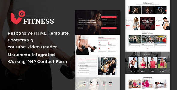 Fitness Multipurpose Responsive Html Template Theme88
