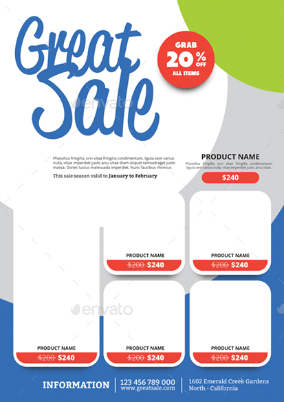 Product Promotion Flyer by monggokerso GraphicRiver - product flyer