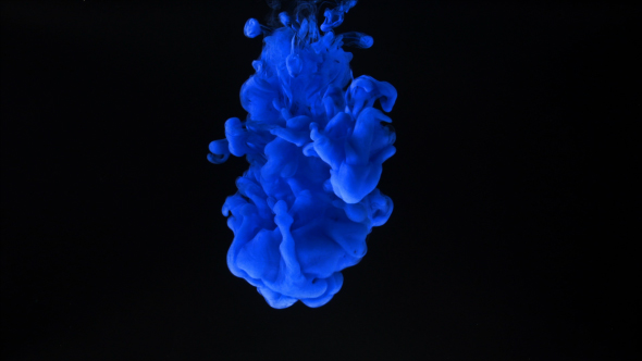 Blue Ink Splash on Black Background by spc01 VideoHive