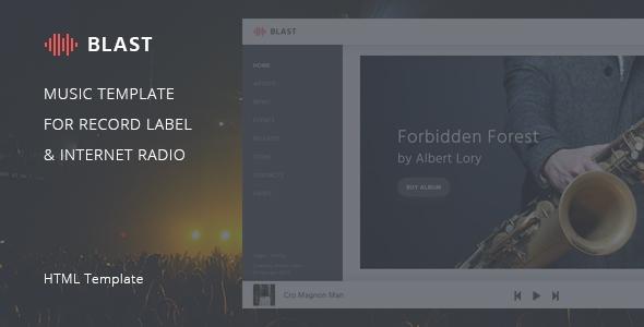 Blast \u2013 Music Template for Record Label  Internet Radio by DmitryVolkov