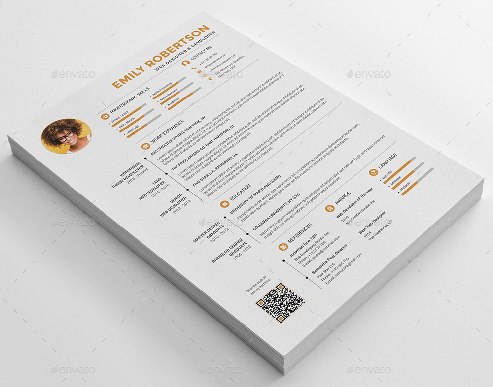 resume cv set by profive graphicriver what is resume cv