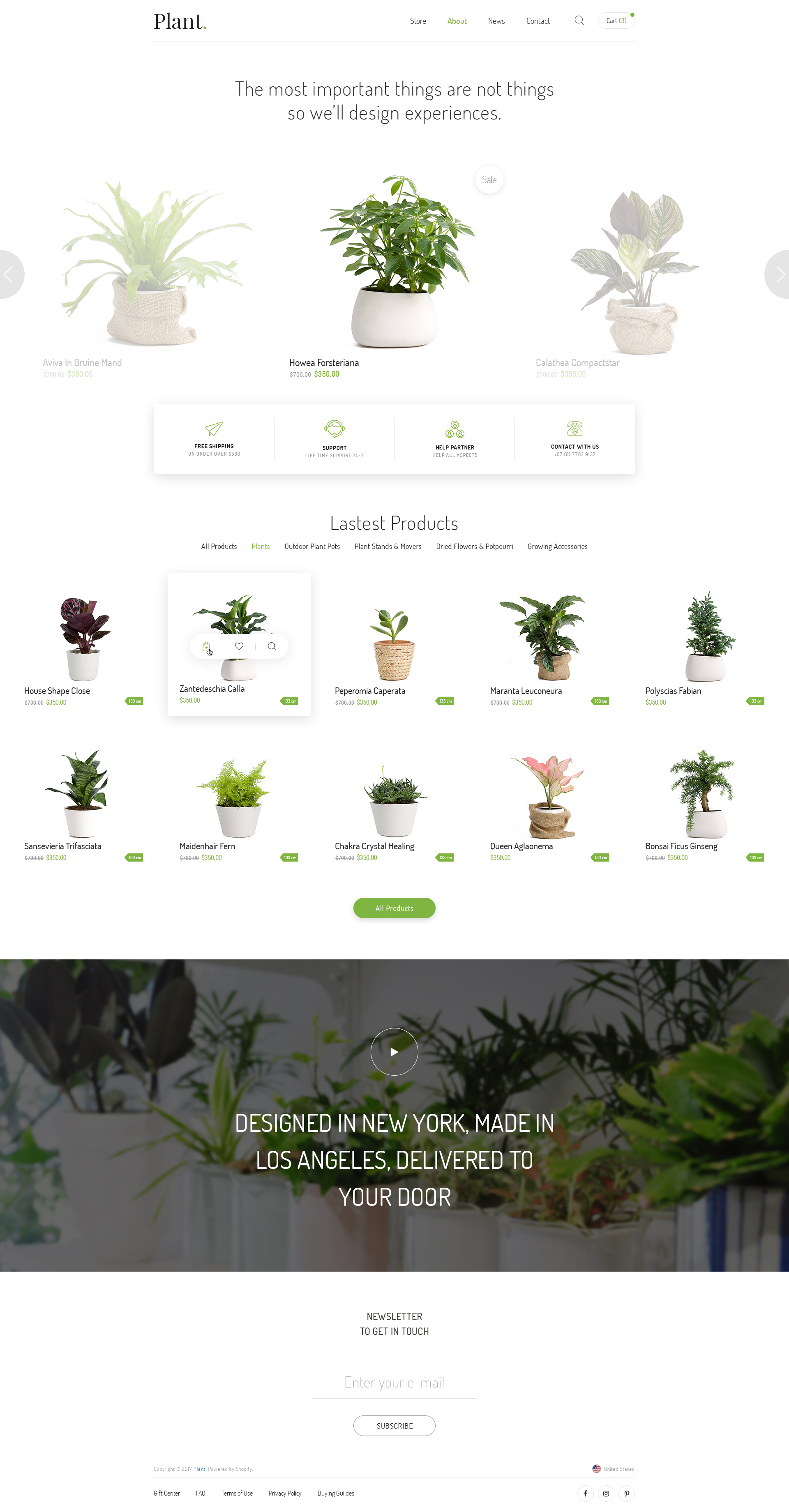 Plant Gardening Houseplants Psd Template By Engocreative Themeforest
