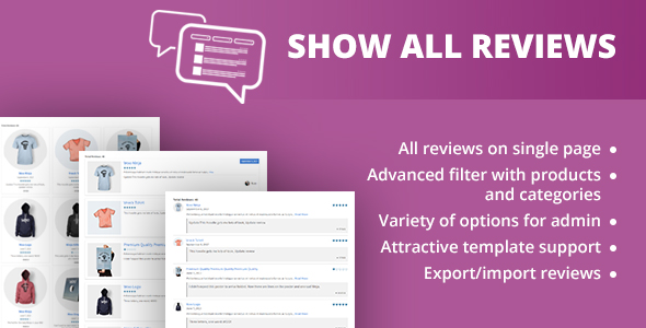 WooCommerce Show All Review by BiztechCS CodeCanyon - product review template