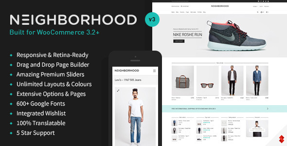 Neighborhood - Responsive Multi-Purpose Shop Theme by SwiftIdeas - neighborhood website templates
