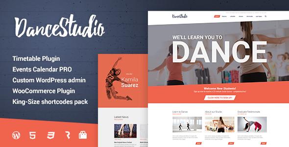 Dance Studio - WordPress Theme for Dancing Schools  Clubs by cmsmasters
