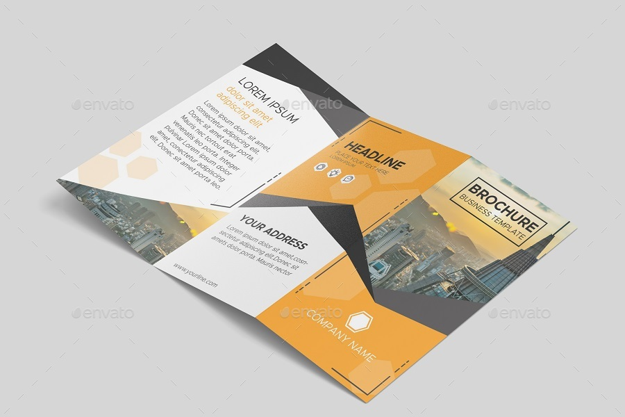 Tri Fold Brochure Mock-Ups by yellowgold GraphicRiver