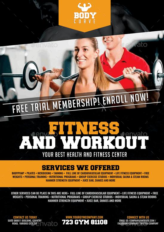workout flyer design
