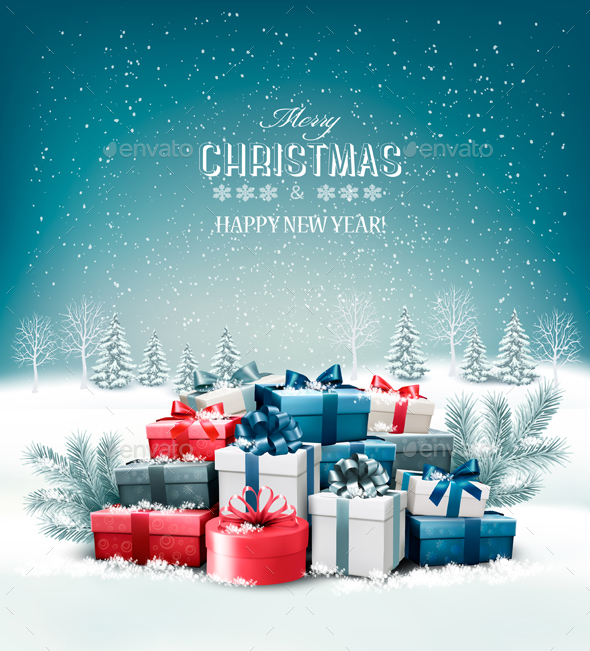 Merry Christmas Background by almoond GraphicRiver