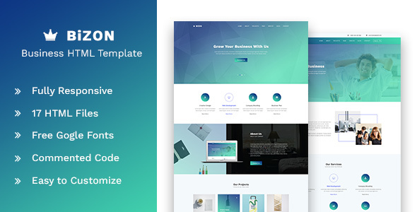 Bizon - Business and Agency HTML Template by bootitems ThemeForest