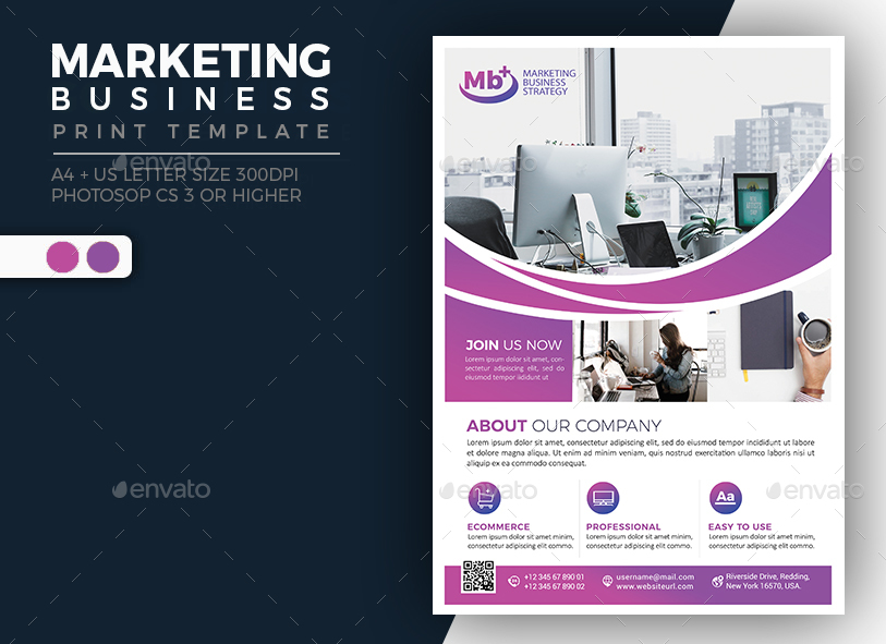 Marketing Business - Single Sided Flyer by jumpjazz GraphicRiver - marketing brochure