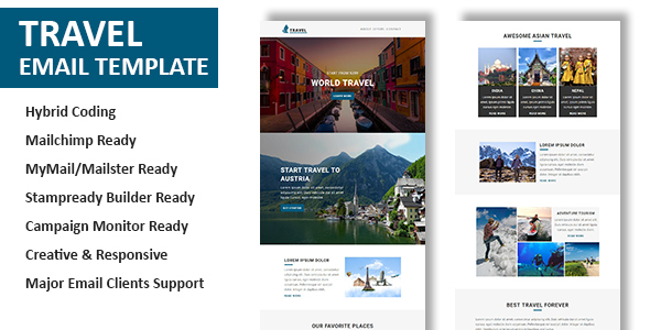 Travel - Multipurpose Responsive Email Template with Online