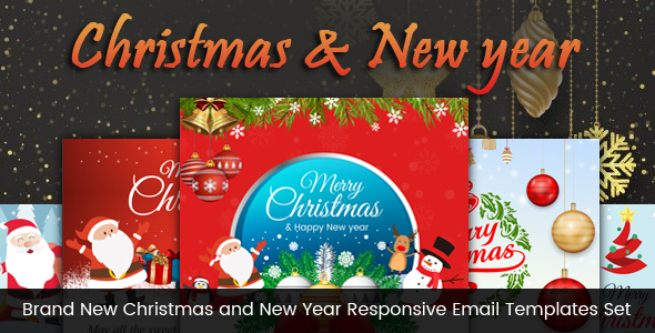 Brand New Christmas and New Year Responsive Email Templates Set by - merry christmas email banner