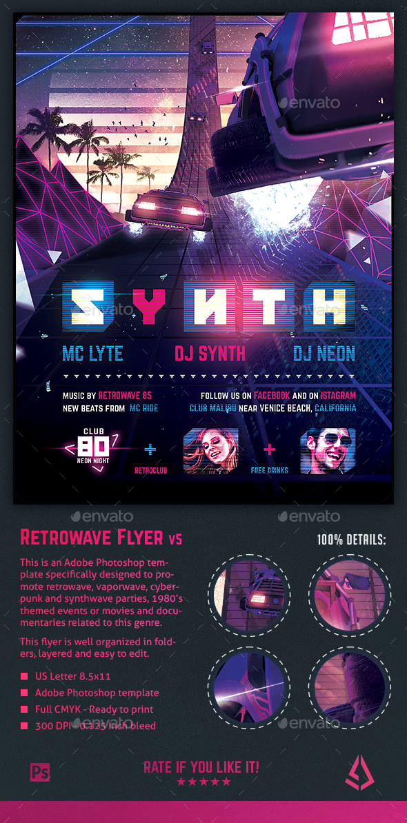 Vaporwave Graphics, Designs  Templates from GraphicRiver