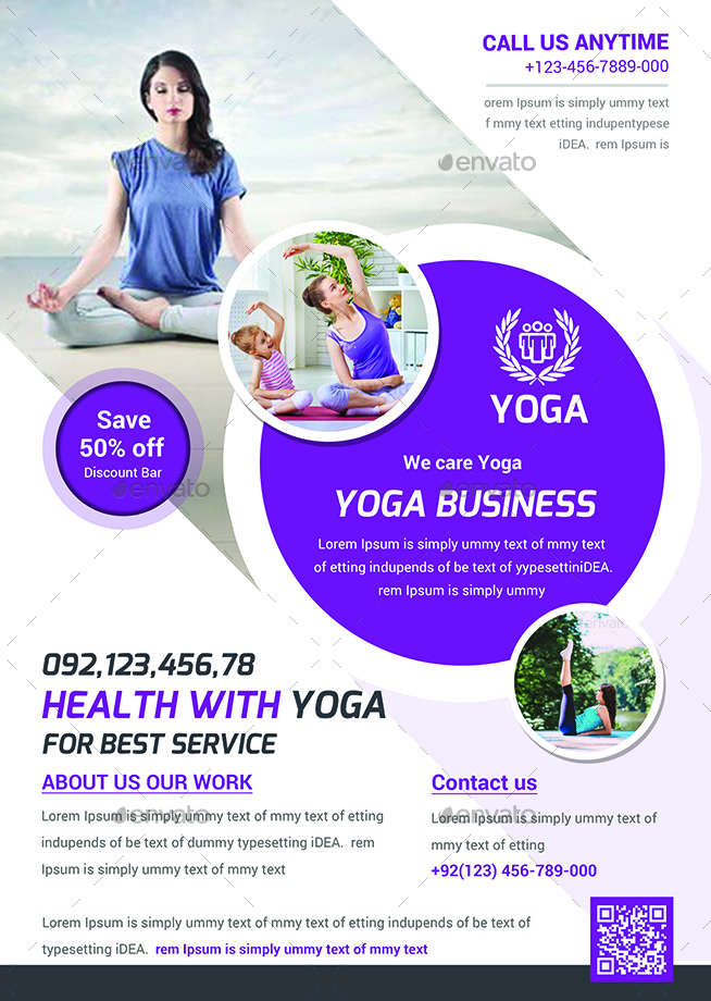 Yoga Flyers Bundle template by afjamaal GraphicRiver - yoga flyer