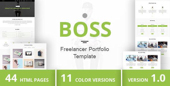 BOSS - Freelancer Portfolio Template by DuezaThemes ThemeForest