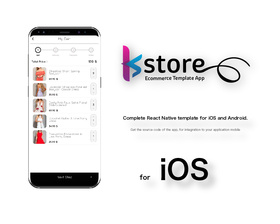 KStore - Complete React Native template for iOS and Android by - android template