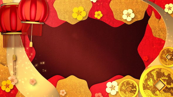 Chinese New Year Background by tykcartoon VideoHive