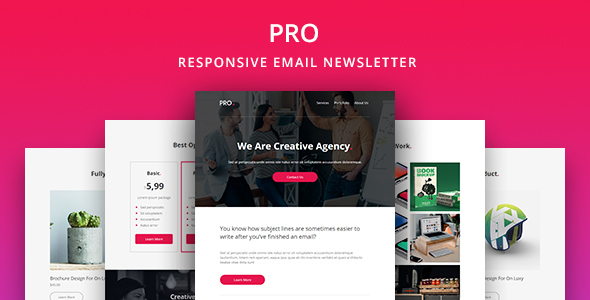 Pro - Agency Email Newsletter Template by yemail ThemeForest