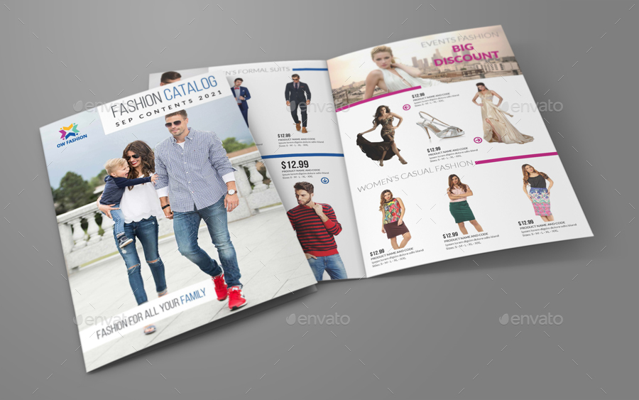 Fashion Catalog Bi-Fold Brochure Template by OWPictures GraphicRiver