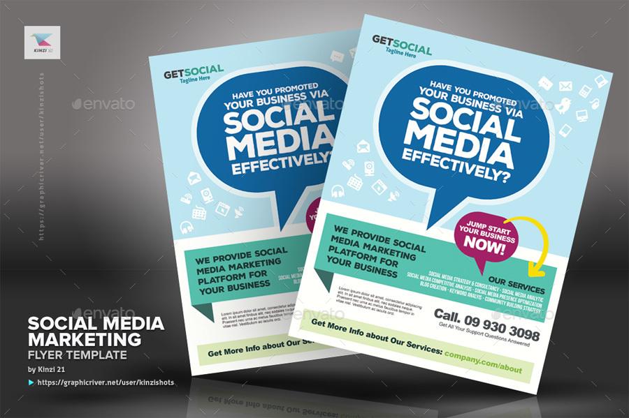 Social Media Marketing Flyer Templates by kinzishots GraphicRiver