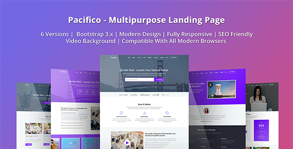 Pacifico - Multipurpose HTML Landing Page Template by Epic-Themes