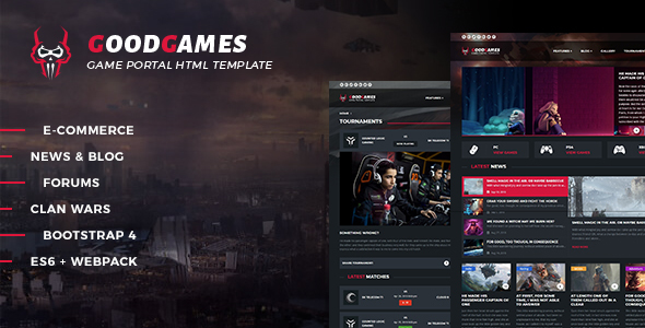 Good Games - Portal / Store HTML Gaming Template by _nK ThemeForest - video game template