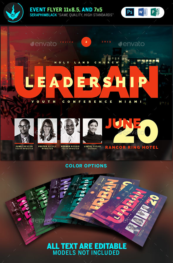 Urban Youth Leadership Conference Church Flyer Template by SeraphimBlack